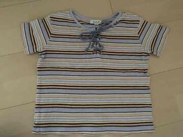 110サイズ/a.v.v/Tシャツ/ボーダー/半袖