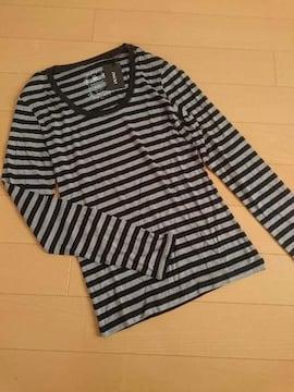 人気完売★INGNI イング★ロンT Tシャツ 長袖Tシャツ ボーダー/M 新品タグ付