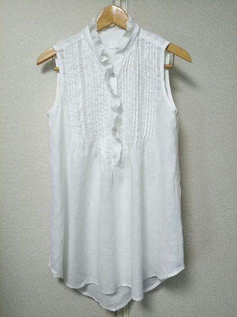 ◇120%lino◇ブルガリア製リネン麻レースシャツブラウス◇  < 女性ファッションの