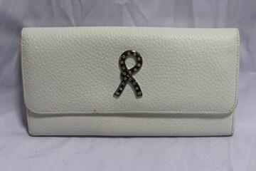 ロベルタディカメリーノ☆ ロゴラインストーンレザー財布 イタリア製 多機能