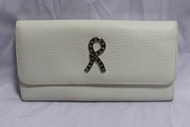 ロベルタディカメリーノ☆ ロゴラインストーンレザー財布 イタリア製 多機能  < ブランドの