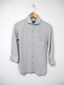 □BEAMS/ビームス 7分袖 ポロシャツ/メンズ/S/グレー