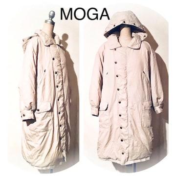 MOGA フード取り外し可能 ロングダウンコート オーバーサイズ