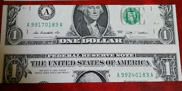 よくわからないアメリカドル札★1ドル