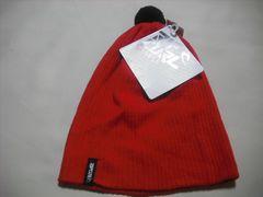 mb487 男 RIP CURL リップカール ボンボン付き ニット帽 赤