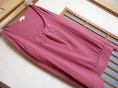 ハニーズ*前リボン長袖カットソーL*クリックポスト164円