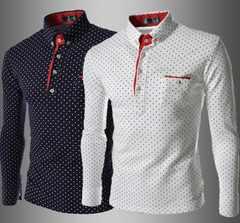 人気新品メンズポロシャツ Poloシャツ 長袖M~3XL/AK403