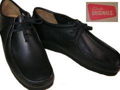クラークスCLARKS新品ワラビー ローカット ブーツ黒26103756uk9