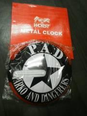 未使用クローズ&ワースト 缶バッジクロック時計