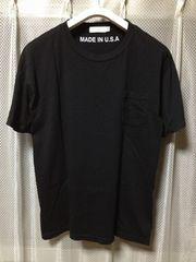 ユナイテッドアローズ ポケット 無地 半袖Tシャツ Sサイズ 黒ブラック アメリカ製 B&Y