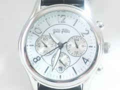 6897/フォリフォリ定価6万円位クロノグラフメンズ腕時計爽やかな印象☆