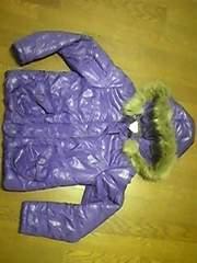 ダウンジャケット/アウター/フード付/紫色/M