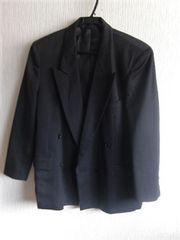 ブランド超美品&国産★Andre Maurois★毛混/黒系/M/送700円