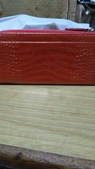 オレンジ系の財布