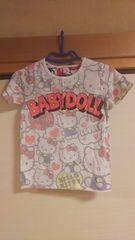 ベビードール♪キティちゃんだらけの半袖Tシャツ☆140☆
