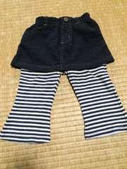 ブランド名不明 女の子用 スカート風パンツ 90センチ