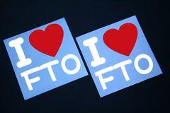 I LOVE ステッカー2枚組み 各色有り FTO