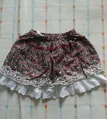 エンジェルラブ♪茶色小花柄スカート♪110�p
