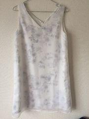 新品タグ付セシルマクビーCECIL花柄フラワーミニワンピース白ホワイトスカート