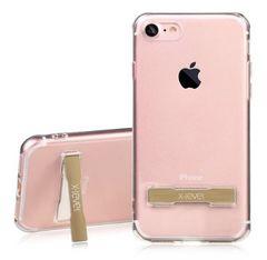 新品 iPhone7Plus カバーケース スタンド付 ゴールド 衝撃吸収