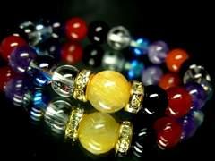 タイチンルチルクォーツ10ミリ§オニキス水晶アメジスト§カーネリアン数珠