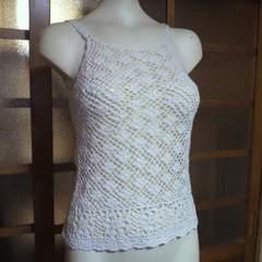 春夏物レース編み キャミソール