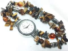 2344復活祭★saeli☆大変素敵なロックブレスレット型レディース腕時計格安!