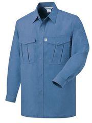 長袖作業シャツ グレイッシュブルーMサイズ 20201送料無料