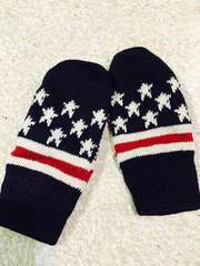 ☆新品☆星がらニット手袋(*^^*)