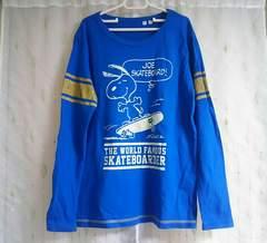 美品◆ユニクロ◆スヌーピーロンT*ブルー*150