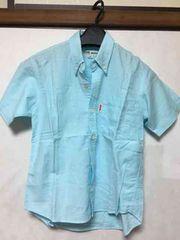 子供服/シャツ/半袖/水色/130cm