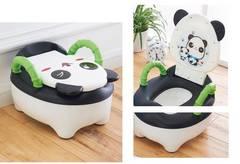 おまる パンダ 幼児 便器 トイレトレーニング 車載 黒