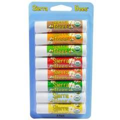 オーガニック リップクリーム 有機 シエラビーズ 8本セット 無添加 はちみつ シアバター