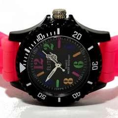 極美品【980円〜】ELITE カラフル 激かわ レディース腕時計