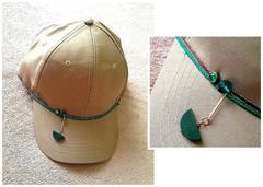 男女兼用■スタッズ ウッドモチーフ■ベージュ キャップ 帽子