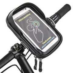 自転車 フレームバッグ トップチューブ スマホホルダー