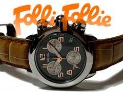 美品 1スタ★フォリフォリ【クロノグラフ】定価4.2万円 腕時計