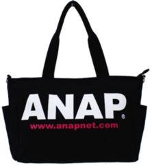新品ANAP★2WAY ロゴ マザーズバッグ ショルダー 黒 アナップキッズ
