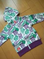 新品BD総柄パーカー110紫ベビドBABYDOLLベビードール