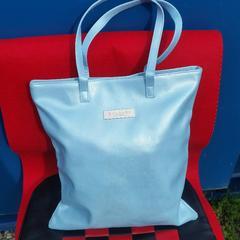 新品に近い!◆鑑定済◆BVLGARIブルガリ/トートバッグ★水色