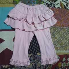 キッズPINK HOUSE/ピンクハウスレギンス一体型 フリル スカート 85〜95�p