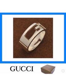 GUCCI ロゴリング 新品未使用 正規品 付属全部あり。送料込み