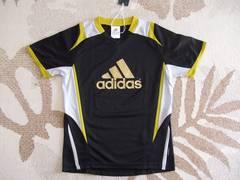 新品★アディダス快適ドライ素材プラクティスシャツ150即決プラシャツラスト1