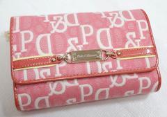即決ピンキー&ダイアンジャガード折り財布ピンク