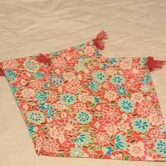 花柄巾着セット ハンドメイド