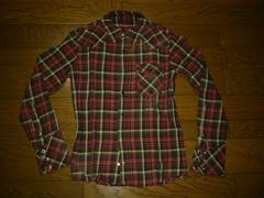 DELAYbywin&sonsダメージ加工チェックシャツ1ウィンサンズ