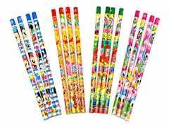 可愛い『ディズニー』2B鉛筆4本入りx4種セット(合計16本)