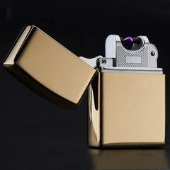 金 Zippo風 USB プラズマ 電子 ライター アーク