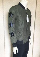 新品グロースbyグレイル!袖星合成皮革MA−1ジャケットL