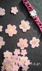 ダイカット20)桜の花〜大・小・黄色のお花(額にも)set☆